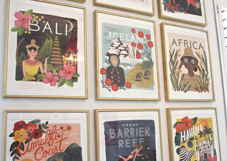 Travel the World Calendar Gallery Wall