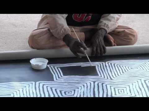 Aboriginal Artists JUDY WATSON NAPANGARDI Hair String 1437 - YouTube