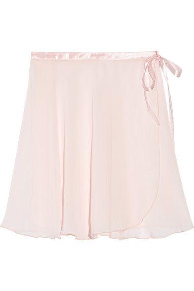 Ballet Beautiful | Satin-trimmed chiffon wrap skirt | NET-A-PORTER.COM