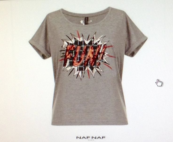 Camiseta con paillettes y print tartán Naf Naf