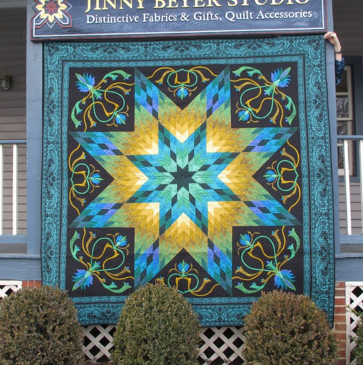 Jinny Beyer Lotus quilt, amazon colorway