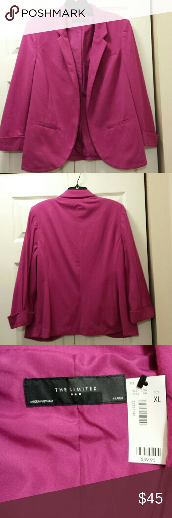 The Limited hot pink blazer Brand new with tags. Gorgeous style.  Fully lined. Beautiful color. The limited  Jackets & Coats Blazers