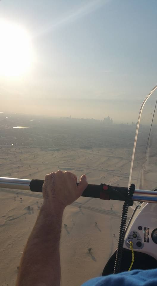Racing Microlights on the Desert