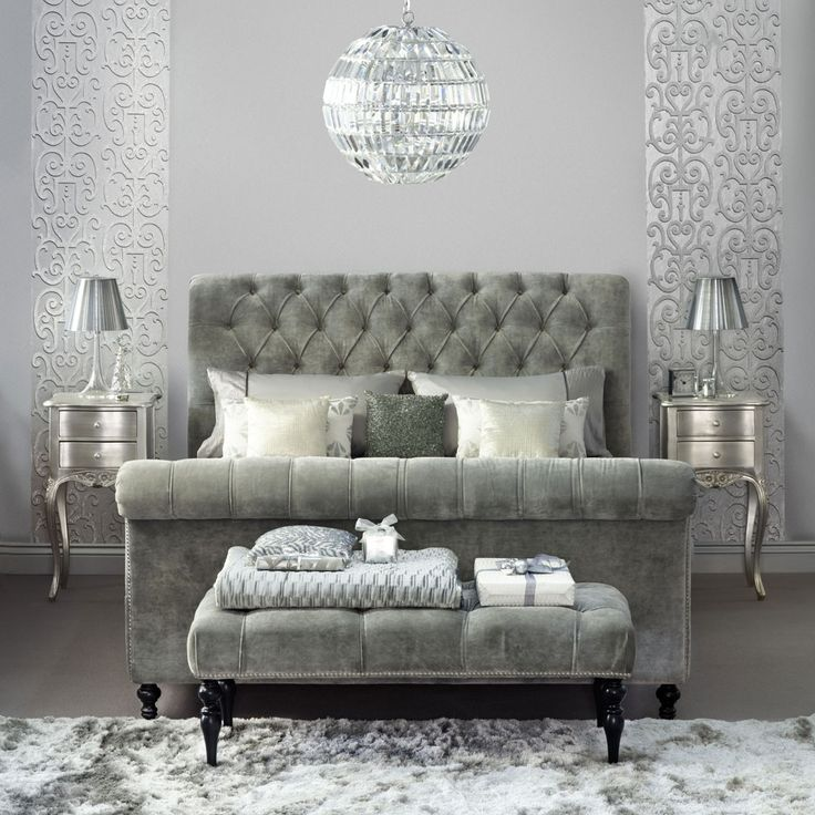 55 best crushed velvet images on pinterest crushed for Velvet bedroom designs