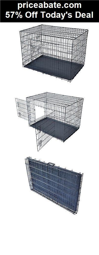 """57% Off New 42"""" 2 Doors Pet Folding Suitcase Dog Cat Crate Cage Kennel w/ABS Tray  - eBay Daily Deal! - #priceabate! BUY IT NOW ONLY $41.99"""