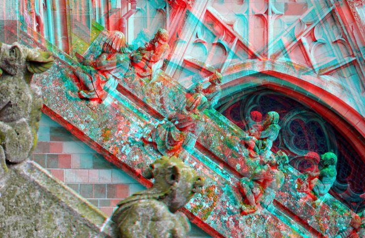 https://flic.kr/p/FGDnHA | Sint-Janskathedraal Den Bosch 3D | anaglyph stereo red/cyan