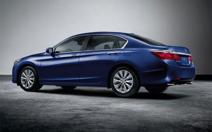 Exterior Photo of 2015 Honda Accord Sedan. The Accord Sedan comes in eight attractive colors, including Obsidian Blue Pearl.