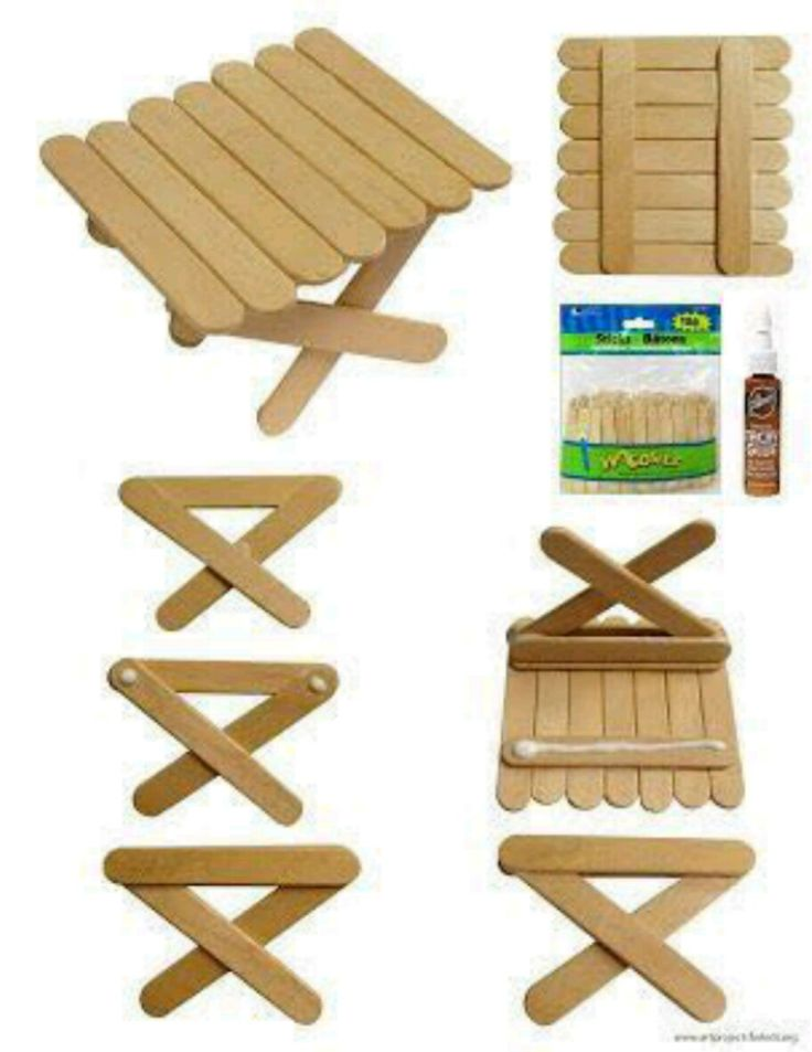 My Love Affair With Popsicle Sticks Continues This Time Ive Found A Way To Use The Mini Make Picnic Table No Cutting