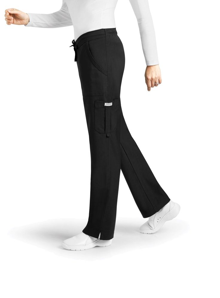 Tall 36 Inch Inseam - This straight leg pant features two front pockets, one back pocket and a cargo pocket with a utility D-ring. It has a combination drawstring/elastic waistband so you are comfortable at all times! The inner waistband features MOBB's signature logo.  Mens & Women | Wear Tall Scrubs | Dixie Uniforms - Medical Wear Canada