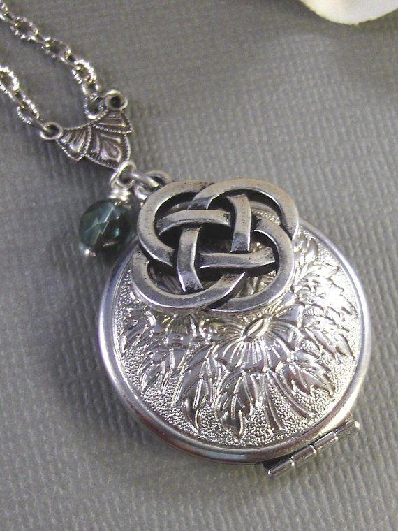 Celtic KnotCladdagh Antique LocketSilver by ValleyGirlDesigns