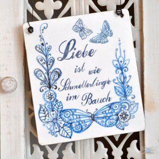 shabbyflair Shabby Chic Holzschild LIEBE ist wie Schmetterlinge im Bauch in Schilder, > Schilder nach Themen, Liebe + Hochzeit. Holzschild: Liebe ist wie Schmetterlinge im Bauch Shabby Chic Holzschildmit der Aufschrift: Liebe ist wie Schmetterl