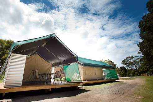 Camp in Style in our Safari Tents   BIG4 Harrington Holiday Park