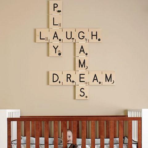 Scrabble #kids #room #deco