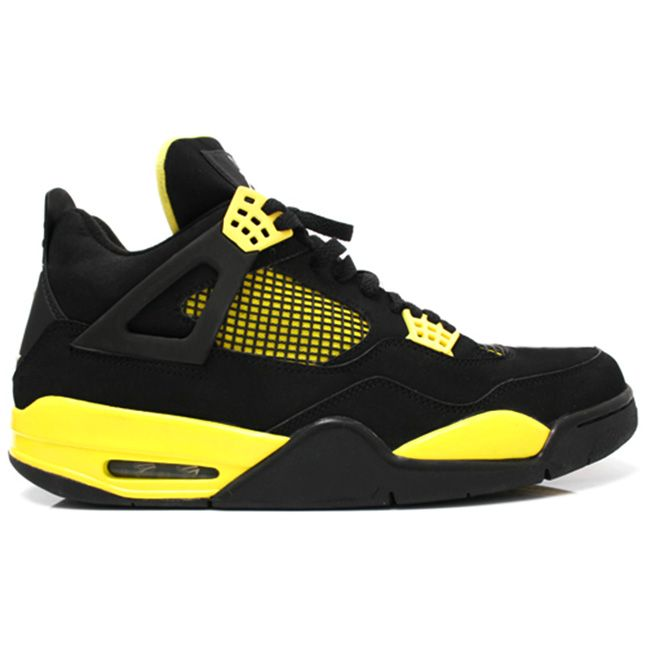 308497-008 Air Jordan 4 Thunder Black/Tour Yellow   $120   http://www.myshoesonline2014.com/308497-008-air-jordan-4-thunder-black-tour-yellow-636.html