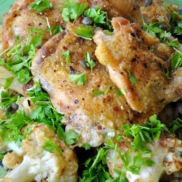 Easy One Pot Meal: Chicken with Cauliflower