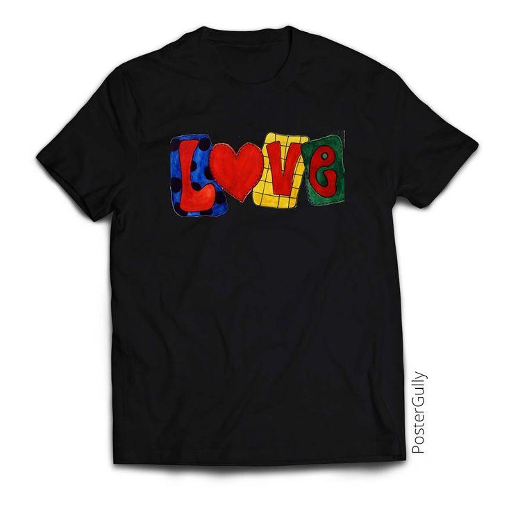 Love Text T-Shirt  #gifts #love #blacktshirt #typography #valentinegift #apparel #teesformen #printedtshirts