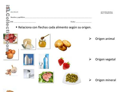 origen alimentos