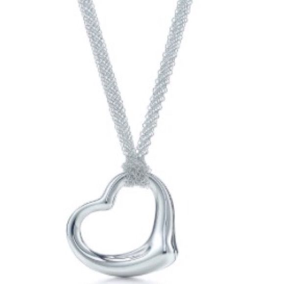 "ISO Tiffany & Co. Necklace Open Heart Pendant ""Elsa Peretti"" 30"" in sterling silver Tiffany & Co. Jewelry"