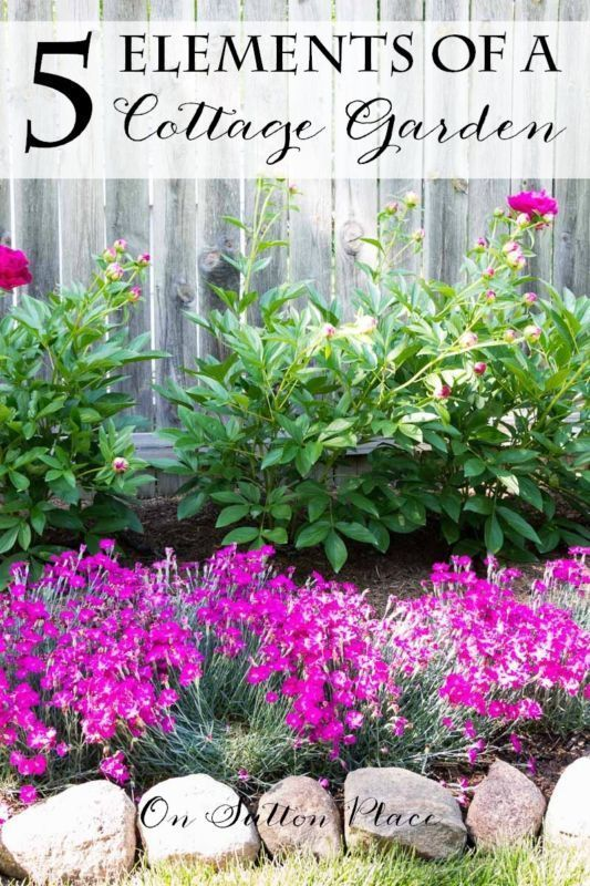 5 Elements of a Cottage Garden   from On Sutton Place   Plant suggestions and placement ideas for a traditional English cottage garden. Easy and fun for any DIY gardener! #spon