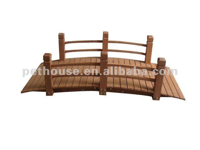 Puente de madera para jard n plantas y jard n arcos y - Arcos de madera para jardin ...