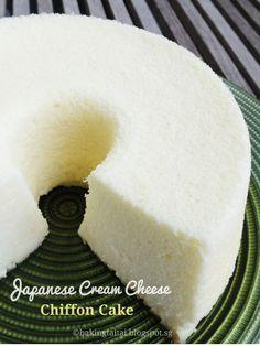 Baking Taitai 烘焙太太: Japanese Cream Cheese Chiffon Cake 日式奶油乳酪戚风蛋糕(中英加图对照食谱)