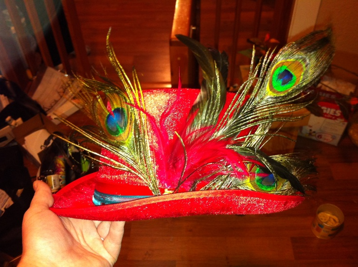 17 best images about mad hatter on pinterest feathers for Mad hatter party props