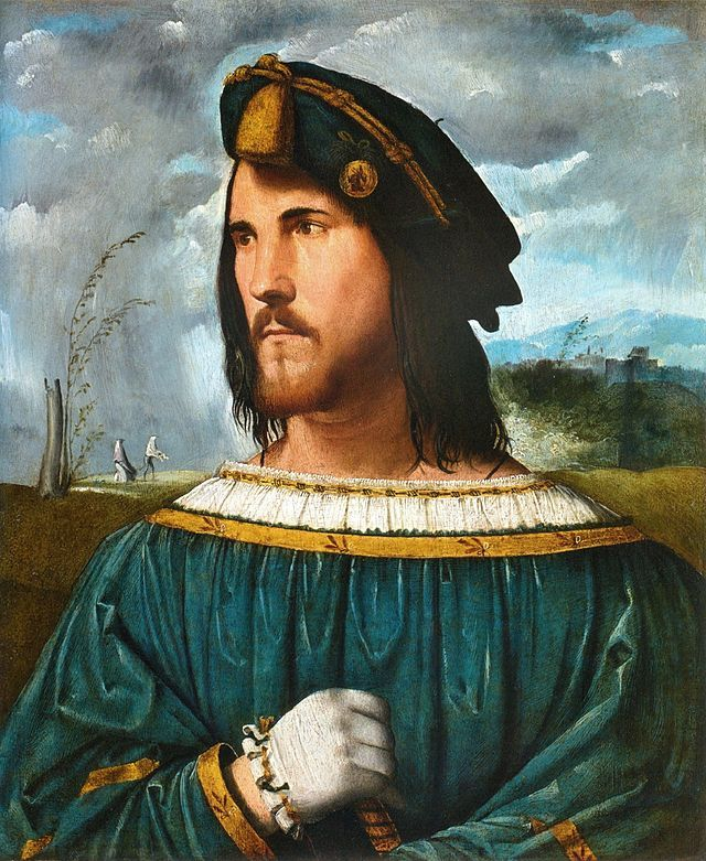 """""""Retrato de César Bórgia"""".       (Cesare Borgia, Duca Valentino)             (by Altobello Melone). Galleria dell'Accademia Carrara.  Bérgamo, Itália."""