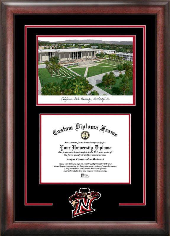 California State University, Northridge Spirit Graduate Frame with Campus Image