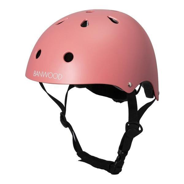 Banwood Bikes Classic Helmet In Matte Coral Kids Cycle Helmet