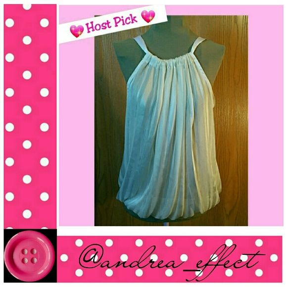 ????HP?? Sheer Top?? Cute Ivory Sheer Top. Charlotte Russe Tops