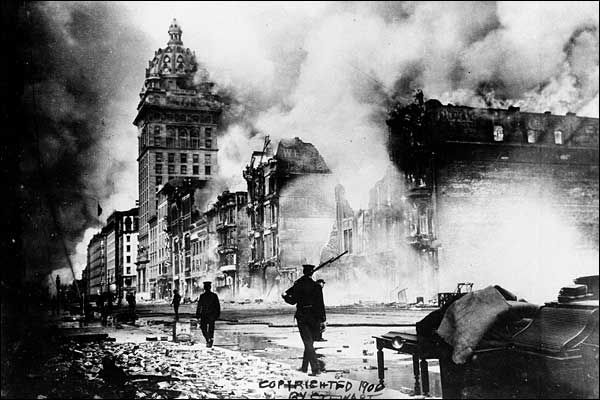 BBC News | In pictures | San Francisco Earthquake - 1906 | The firestorm