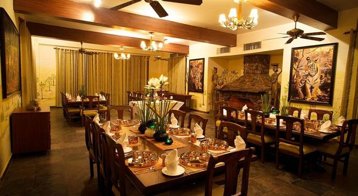 Stunning dinning room of singinawa jungle lodge. Magical tricks in the and of every cook make the dinner at singinawa jungle lodge yummiest one #kanhajunglelodge #singinawajunglelodge #luxuryjunglelodgeinindia
