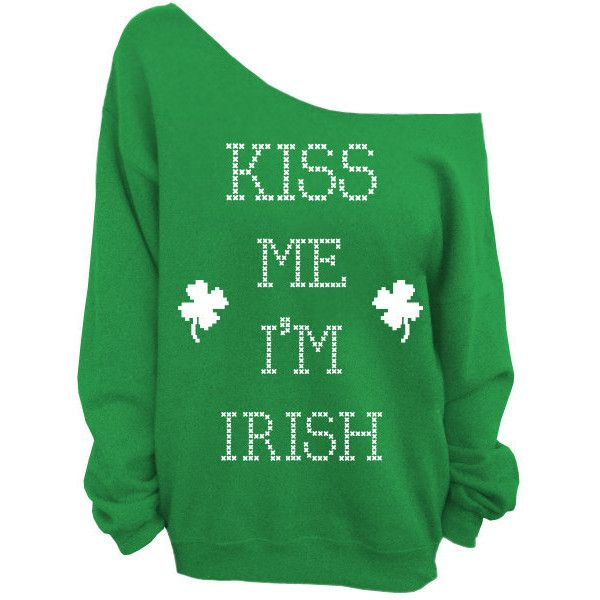 Kiss Me I'm Irish Irish St. Patricks Day Green Slouchy Oversized Sweatshirt. (This listing is for the GREEN sweatshirt only! Each color has its own listing!) T…