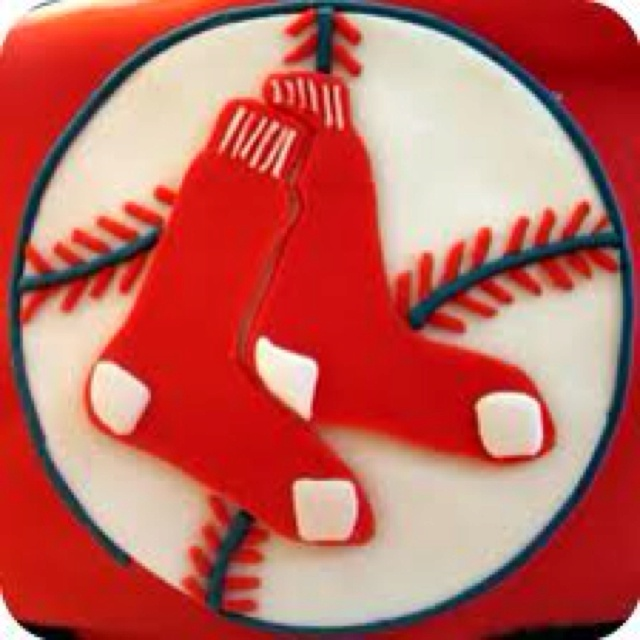 1000+ Ideas About Red Sox Cake On Pinterest