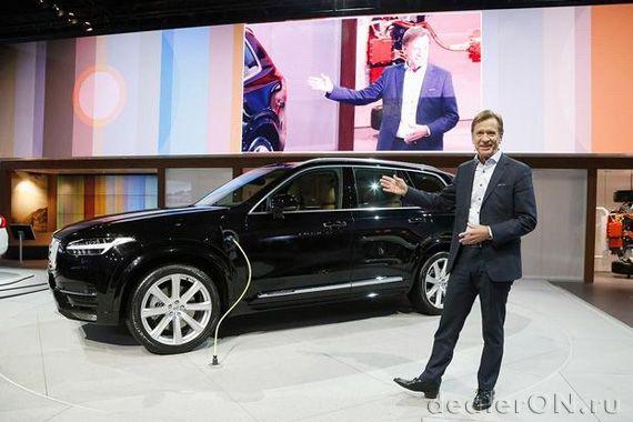 Кроссовер Вольво ХС90 2016 (Volvo XC90) на презентации Хакана Самуэльссонаи Ха
