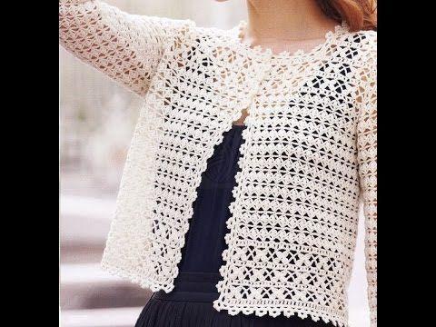Suéter Ligero Calado a Crochet - YouTube