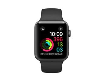 Apple Watch Series 2 42mm stellargrå Alu med sort Sport Band