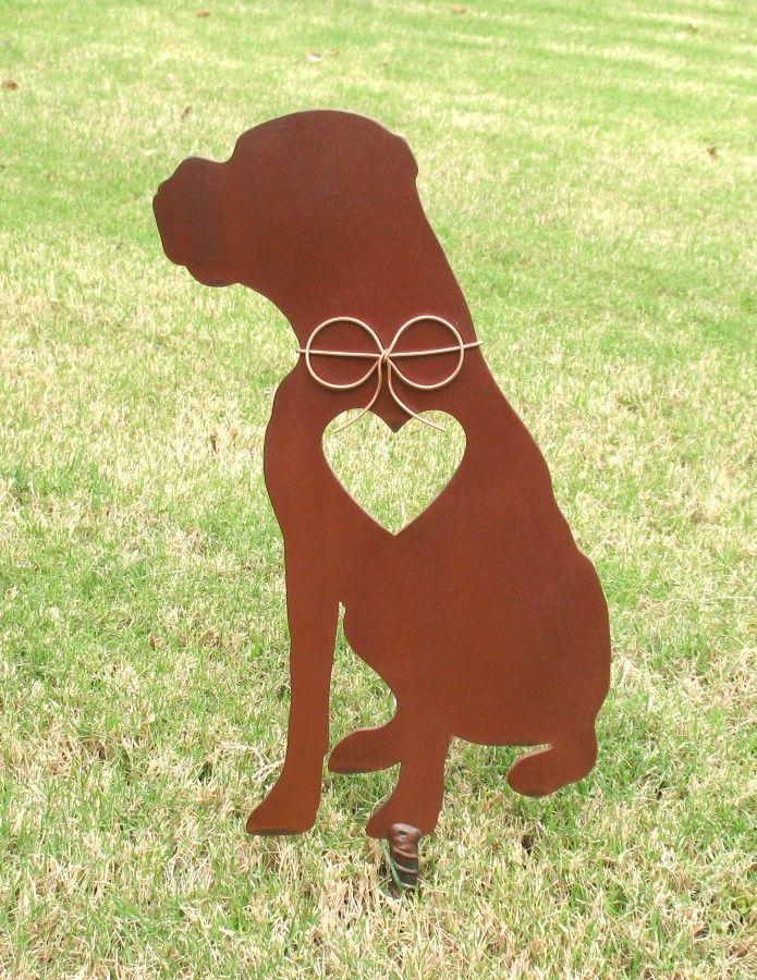 Boxer Dog Pet Memorial 4 Pet Memorials Garden Stakes