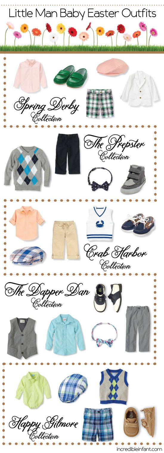 5 Baby Boy Easter Outfits - so handsome! http://www.incredibleinfant.com