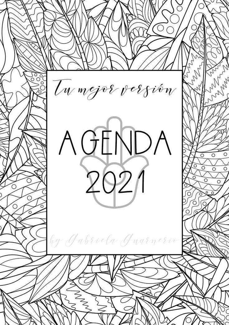Agenda 2021 con Mandalas para colorear Bullet Journal ...