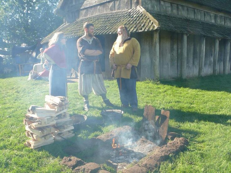 from a black smith meet at trelleborg making dinner for the feast