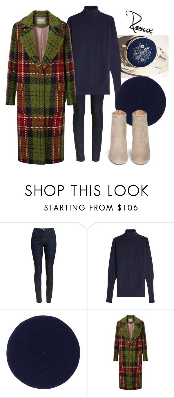 """Autumn check"" by aleva on Polyvore featuring Barbour, Victoria Beckham, Fivestory and Aquazzura"