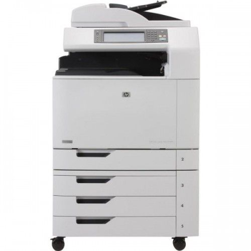 Imprimanta Multifunctionala Laser Color A3/A4 HP CM 6030 MFP, 30 pagini/minut monocrom, 30 pagini/minut color, 200.000 pagini lunar, 600/600 DPI, Duplex, 1 X USB, 1 X Network, Scanner, Fax, DADF