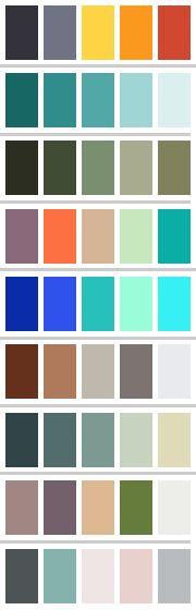 Exemplos de paletas de cores para casamento