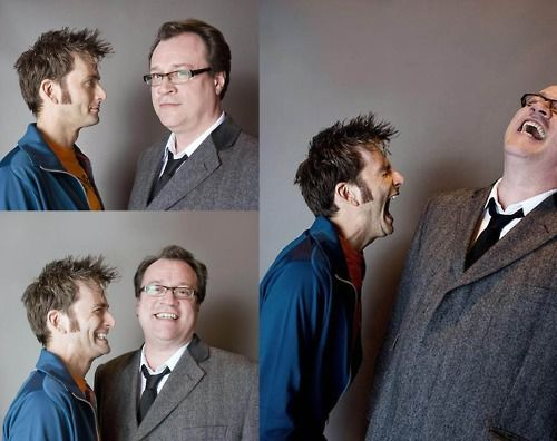 David Tennant & Russell T Davies. Yeah, this is how I pictured their interactions.