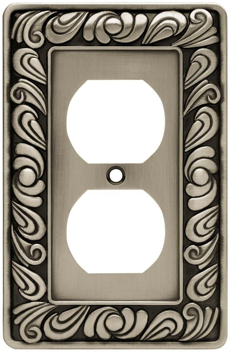 brainerd paisley single duplex wall plate switch plate cover brushed satin pewter