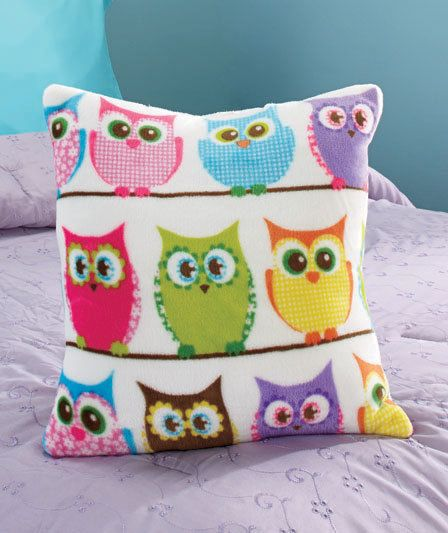 Hoot Owl Bedroom 17 inch Pillow