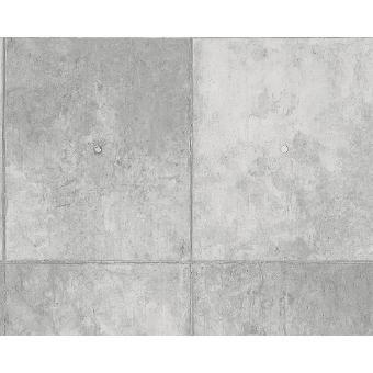 High Quality Details Zu A.S Creation Authentic Walls 30179 1 Tapete Vlies Struktur Beton  Optik Grau