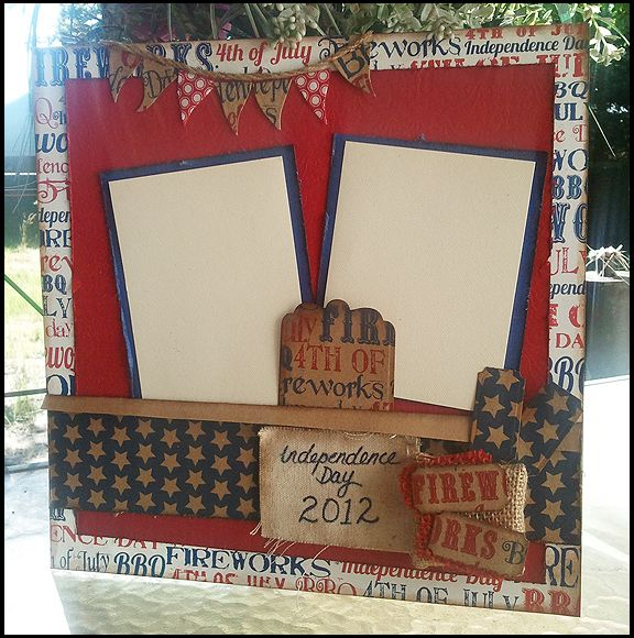 4th of July Page using LOTS of Stamps instead of B.