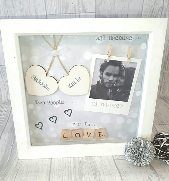 Anniversary Gift Wedding Gift Personalised Frame Scrabble